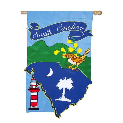 (South Carolina Garden Flag Size: 18