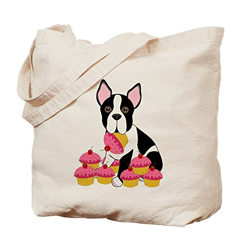 errier With Cupcakes - Natural Canvas Tote Bag, Cloth Shopping Bag ()