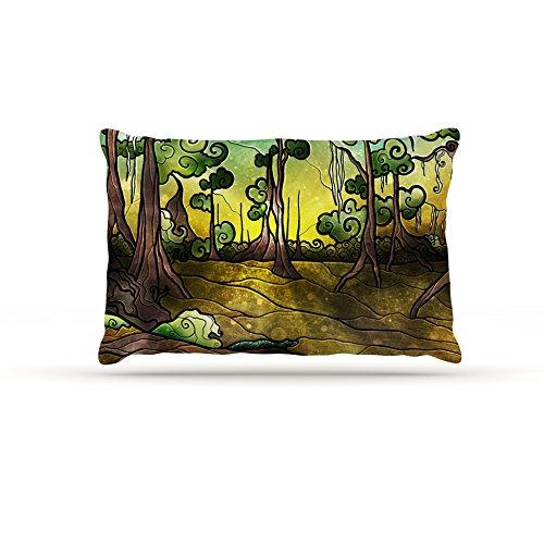 Kess InHouse Mandie Manzano Aligator Swamp  Fleece Dog Bed, 50 by 60 , Multicolor