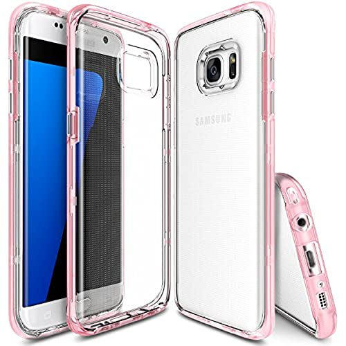 Galaxy S7 Edge Case, Ringke [Frame] Ultimate DualLayer Reinforced Bumper [Frost Pink] Naturally Contour Streamlined Sales