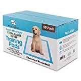 Extra-Large 36″ x 28″ Puppy Traning Pads for Large Breeds, Pack of 50 by Best Pet Supplies