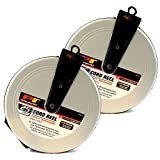 (2) 25ft Heavy Duty 3 Outlet Retractable Extension Cord Reels Wilmar W2272