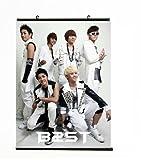 KPOP Poster All Stars BAP EXO SJ Shinee Infinite Bigbang G-Dragon Hanging Cloth Poster