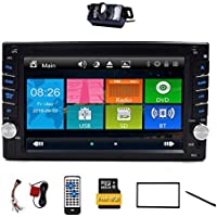 Upgarde Version With Backup camera ! 6.2 Double 2 DIN Car DVD CD Video Player Bluetooth GPS Navigation Digital Touch Screen Car Stereo Radio Car PC 800MHZ CPU !!!