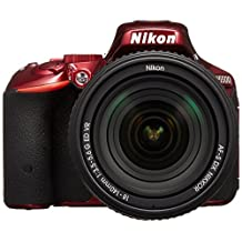 NIKON D5500 AF-S DX 18-140mm F/3.5-5.6G ED VR Kit 24.2MP SLR Camera with 3.2-Inch TFT LCD (Red)