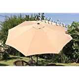 Bellrino Replacement Umbrella Canopy for 9ft 8 Ribs Taupe (Canopy Only) TAN 98
