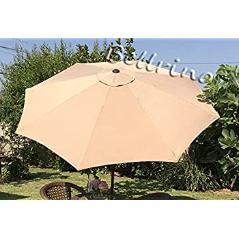 bellrino decor replacement taupe strong and thick umbrella canopy for 9ft 8 ribs taupe canopy only