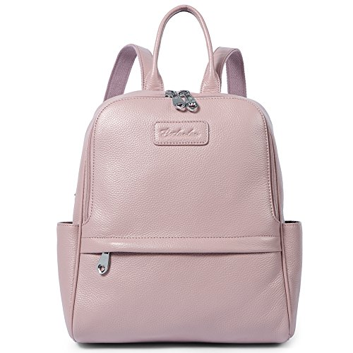 BOSTANTEN Genuine Leather Backpack Purse Fashion School Bags for Women Pink Medium by BOSTANTEN