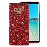Samsung Galaxy Note 9 Case [with Free Screen Protector],Funyee Luxury Shiny Sparkle Diamond Ultra-Thin Silicone Gel TPU Anti Scratch Durable Rubber Smart Case for Samsung Galaxy Note 9,Red