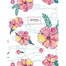 Journal (Diary, Notebook): Floral Pink & white, XL 8.5 x 11, lined