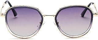 Easy Go Shopping Gafas de Sol de Gran tamaño Verano Playa Vacaciones Señoras Marco metálico Hombres Conducción Pesca Deportes al Aire Libre Gafas de Sol polarizadas