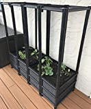 Tower Planter With Wheels for Tomatoes, Cucumbers, Peas & Beans