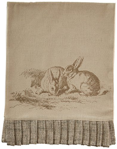 - Burton and Burton Easter Cream Natural Table Runner with Bunnies and Ruffled Trim 71