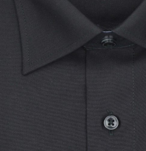 OLYMP Luxor modern fit Hemd Langarm New Kent Kragen Popeline schwarz