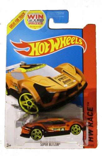 (Hot Wheels 2014 Hw Race Track Aces Orange Super Blitzen 163/250 Code Car)