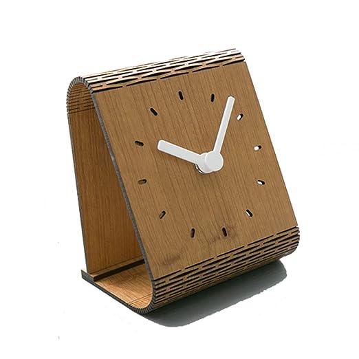 QIAOSHI Reloj de Mesa silencioso, decoración de Escritorio, Reloj ...