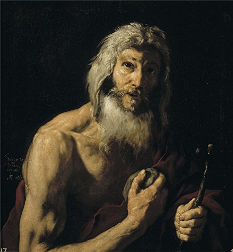 Oil Painting 'Ribera Jose De Penitent Saint Jerome 1652 ' Printing On Polyster Canvas , 18 X 19 Inch / 46 X 49 Cm ,the Best Dining Room Artwork And Home Artwork And Gifts Is This Amazing Art Decorative Prints On Canvas (Fence Right Sub)