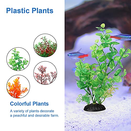 Aquarium Decorations Accessories Farm Fish Tank Decor Plastic Plants Artificial Small Decoration (8-15 gallons)