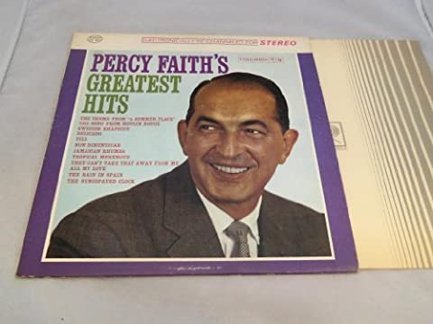 Percy Faith & his Orchestra Greatest Hits Original Columbia (Red Two Eye label) Records Stereo release CS 8637 1960's Pop Vinyl - Faith Stereo