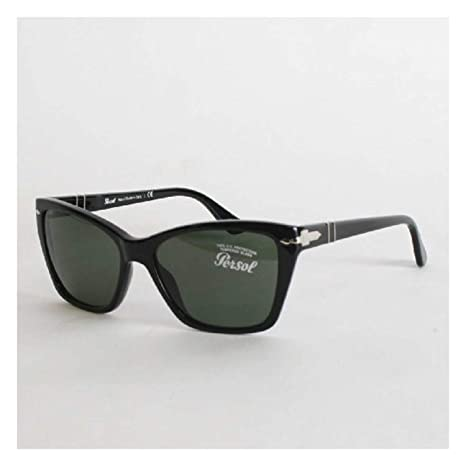 021fd30680 Persol Sunglasses 3023 95 31 Black Grey Green  Amazon.ca  Luggage   Bags