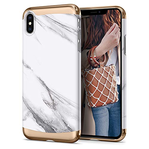 CYRILL Ciel [Colene Collection] Designed for Apple iPhone Xs MAX Case (2018) - White Marble