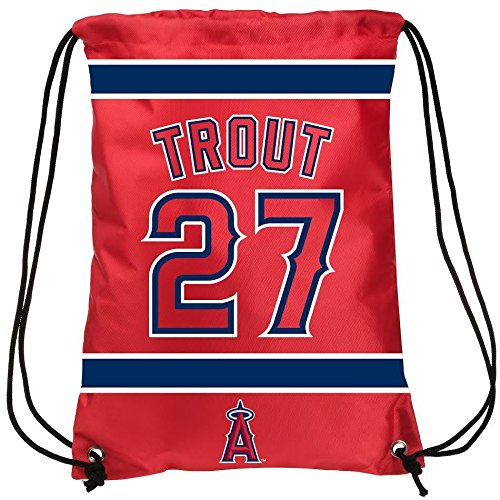 (Los Angeles Angels Trout M. #27 Drawstring Backpack)