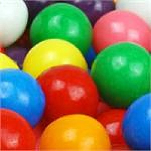 1 POUND BAG DUBBLE BUBBLE 1 INCH / 25.4MM GUMBALLS
