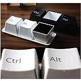 3Pcs/Set Fashion Creative Design Keyboard Key CUP Coffee Mug Cup Minimalist Style Gifts Include Ctrl Del Alt 3 Pieces-Color Random