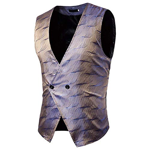 Gilets Or Pour 1 Vintage Veste Homme neck Style Farbe V Bouton Cut Gilet Slim Huixin Casual Business ZtUwABB