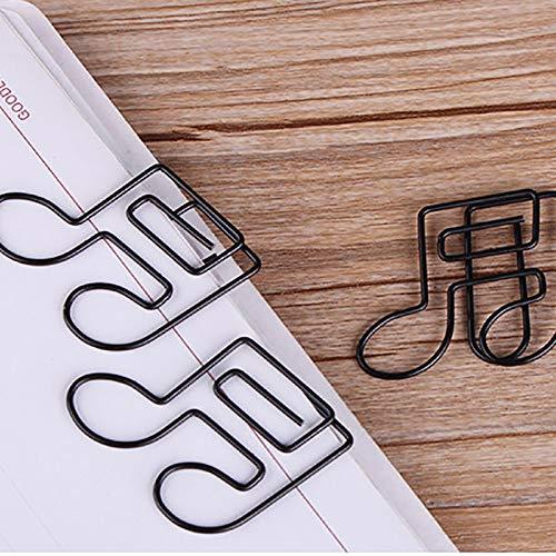 MoGist 12/pezzi in metallo da ufficio punti Graffette NERO SIMPATICO Musica Note Forma Design adatto per biglietti d auguri Decorativa Calendario