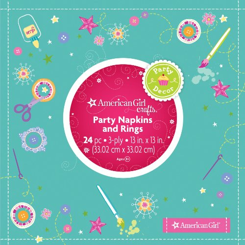 American Girl Crafts Napkins and Rings (American Doll Party Supplies)