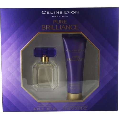 CELINE DION PURE BRILLIANCE by Celine Dion EDT SPRAY 1 OZ & BODY LOTION 2.5 OZ CELINE DION PURE BRI Celine Freesia Eau De Toilette