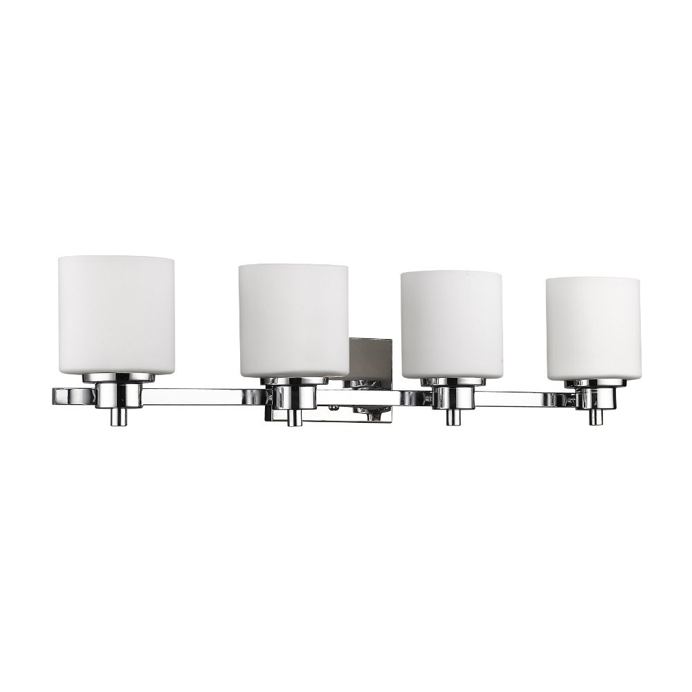 4-Light Contemporary Bath Vanity Wall Fixture