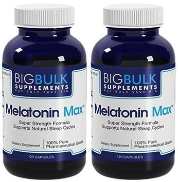Amazon.com : Melatonin Max Natural Sleep Cycle Support Big Bulk Suplements Melatonin 10mg 240 Capsules 2 Bottles : Medicinal Sleep Aids : Beauty