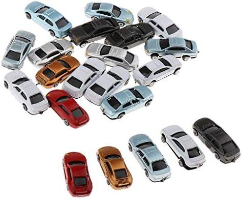 F Fityle 20本 自動車模型 ミニカー モデルカー ジオラマ用品 都市模型 ジオラマ 装飾 DIY 全3サイズ - 1:100