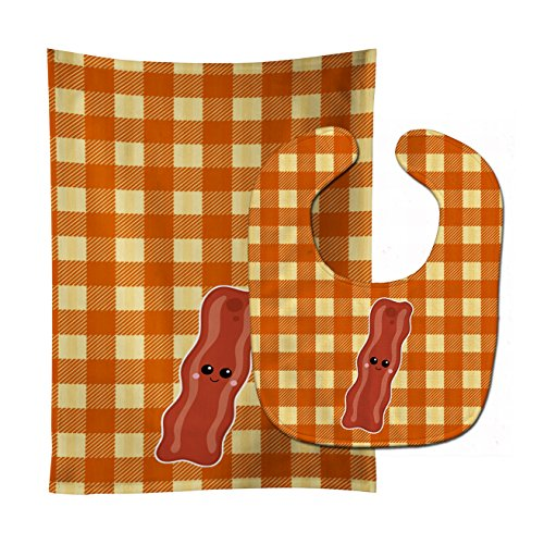 Baby Bib & Burp Cloth, Bacon Face