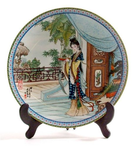 Beauties Of The Red Mansion (Beauties of the Red Mansion plate Miao-yu or Miaoyu by Zhao Huimin)