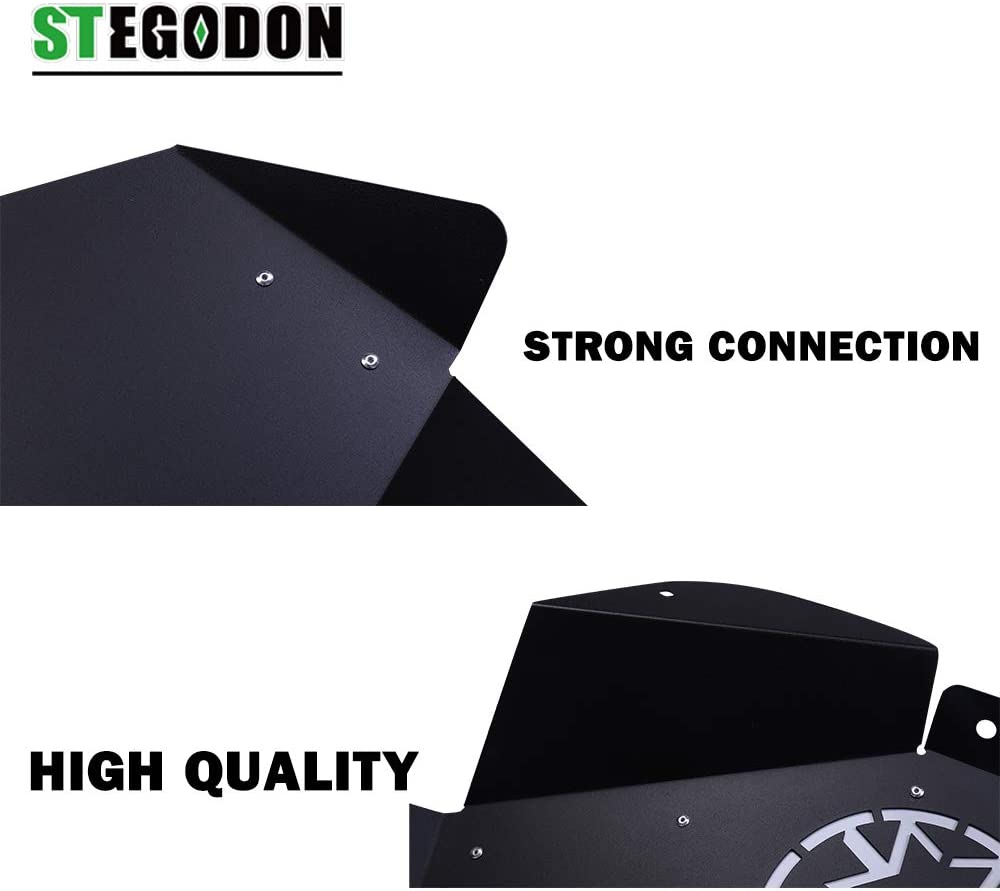 STEGODON Front Inner Fender Liners Star/&Flag Logo Muddy Water Fender Black Lightweight Steel Fender for 2007-2018 Jeep Wrangler JK JKU 4WD Sahara Rubicon Sport 2//4 Doors