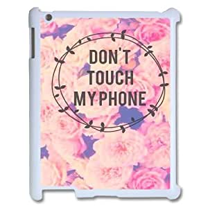 DIY Don't touch my phone Case, DIY Case for ipad2,3,4 with Don't touch my phone (Pattern-2)