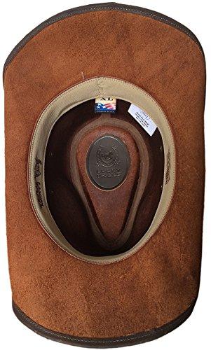 Lucky Trails Dakota Brown Shapeable Handmade Leather Western Cowboy Hat