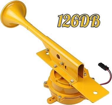 WINBST Hupe Lautsprecher super Horn 12v Luft Horn rotes elektrisches Stier Horn f/ür Auto Motorrad LKW Boot