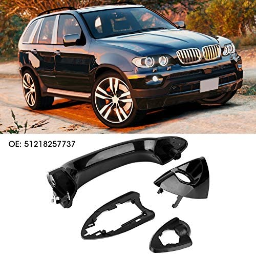 Reminnbor Poign/ée de porte avant gauche Support de poign/ée de porte de voiture pour E53 X5 2000-2006 ext/érieur avant gauche c/ôt/é conducteur