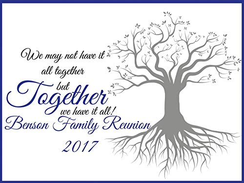 Family Reunion Decorations - Size 24x36, 48x24, 48x36; Personalized Family Reunion Backdrop, Family tree, Family Signs, family reunion banner, reunion party, handmade party supplies, Custom Banner ()