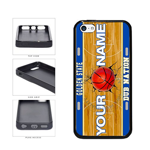 BleuReign(TM) Personalized Dub Nation Custom Name Basketball Team Golden State License Plate TPU RUBBER SILICONE Phone Case Back Cover For Apple iPhone 5c