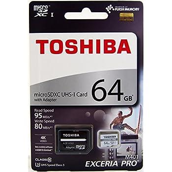 7c5548d4e Toshiba 64GB EXCERIA PRO M401 microSDXC UHS-I U3 Card Class 10 microSD  micro SD