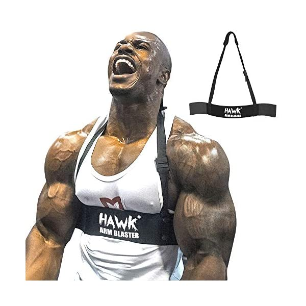 Black Gym Biceps Isolator Blaster Barbell Bar Curl Weight Lifting Arm Well!