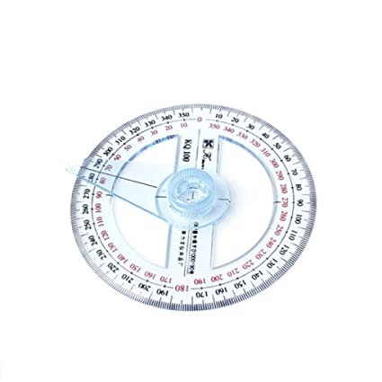 Amazon com: Ruler 10cm - Portable Plastic 360 Degree