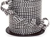 GINGHAM BLACK Curling Ribbon3/8'' x 250 yds 100% Polypropylene (7 unit, 1 pack per unit.)