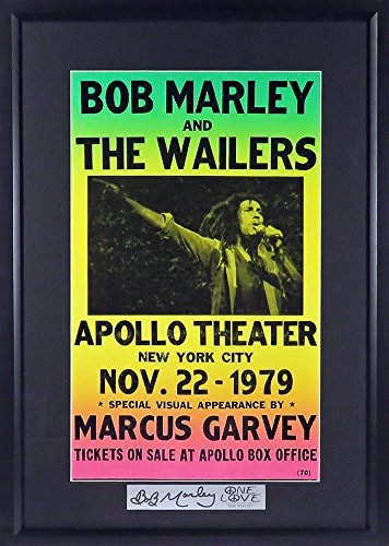 Bob Marley & The Wailers @ The Apollo Concert Poster (SGA Signature Series) Framed