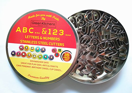 Stainless Cookie Cutter Numbers (Clear) - 4